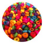 Margele lemn rondele mix de culori