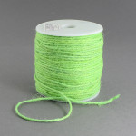 Snur fibra naturala verde crud