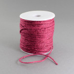 Snur fibra naturala roz inchis