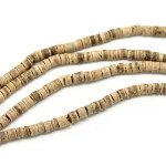 Margele nuca cocos rondele natur