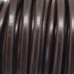 Snur piele naturala maro inchis