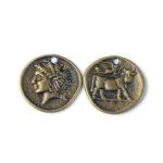 Moneda efigie bronz antichizat