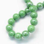 Margele portelan verde perlat