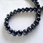 Margele portelan negru perlat
