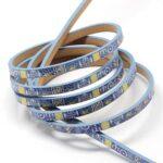 Piele lata imitatie, culoare albastru design