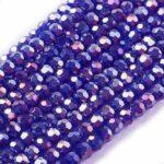 Margele sticla fatetate albastru-violet