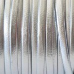 Piele naturala lata argintiu