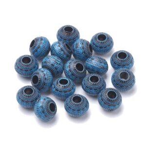 Margele acril, culoare albastru