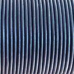 Snur piele naturala albastru metalizat