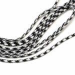 Snur paracord alb-negru