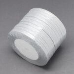 Panglica organza argintiu