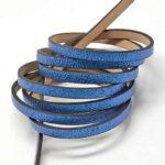 Piele lata imitatie, culoare albastru glitter
