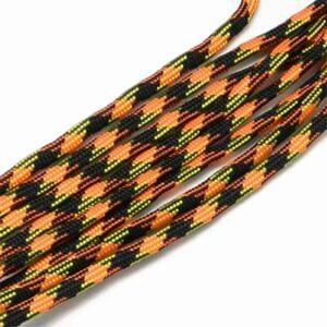 Snur paracord negru-portocaliu